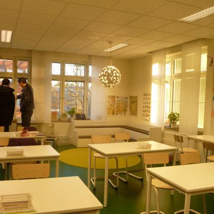 Järla skola klassrum